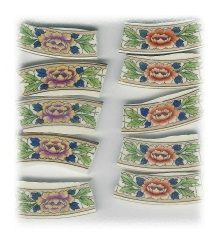 Purple & Orange Lotus Flower Broken China Mosaic Banners