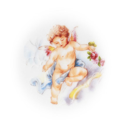 Sweet Cherub Broken China Mosaic Focal