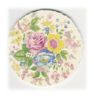 Floral Bouquet Broken China Mosaic Focal