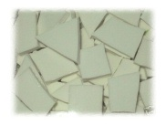 White Filler Broken China Mosaic Tiles